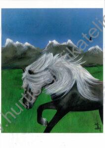 Pferd vor Berge