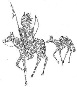 Häuptling mit Packpferd